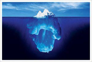 ضمیر ناخودآگاه انسان همچون کوه یخی در زیر آب پنهان است
