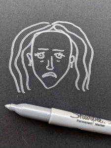 به سختی احساسات را درک می کنید: خودتان را نقاشی کنید.